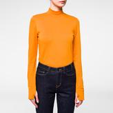 Paul Smith Women's Orange Long-Sleeved Viscose Top