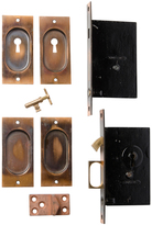 Rejuvenation Complete Set of Corbin Pocket Door Hardware