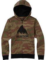 Burton Classic Mountain Full-Zip Hoodie - Boys' Splinter Camo M