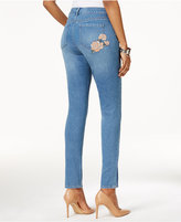 Style&Co. Style & Co Embroidered Skinny Jeans, Only at Macy's
