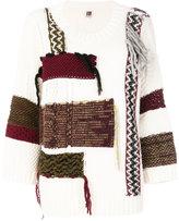 I'M Isola Marras patchwork knit jumper