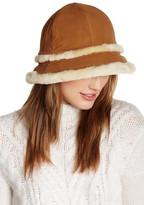 UGG City Bucket Genuine Dyed Shearling Trim Hat