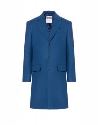 Moschino Cloth Coat Cut-out Logo
