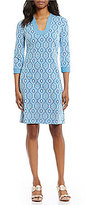 J.Mclaughlin Gisel 3/4 Sleeve Printed Dress