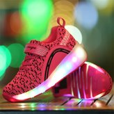 Ufatansy Uforme Boys Girls Kids Adults Lightweight LED Sneakers Flashing Light Up Single Wheel Double Wheels Shoes