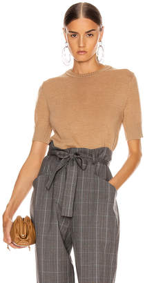 Jil Sander Short Sleeve Sweater Top in Tan | FWRD