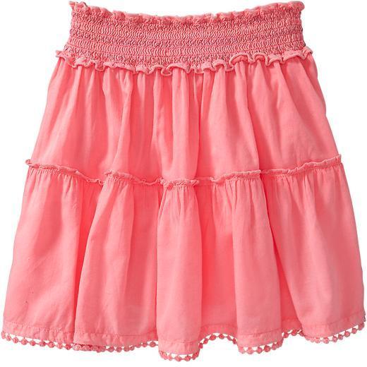 Old Navy Girls Smocked Pom-Pom Skirts