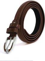 uxcell® Lady Single Pin Buckle Skinny Patent PU Waist Belt