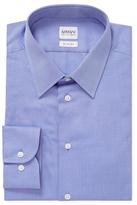 Armani Collezioni Solid Spread Collar Slim Fit Dress Shirt