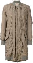 Erika Cavallini - midi bomber coat - women - Polyamide/Polyester/Cupro - 42