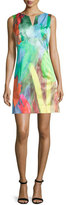 Milly Sleeveless Tulip-Print Mini Dress, Poppy
