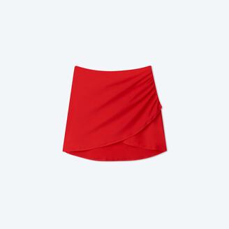 Summersalt The Ruched Swim Skirt - Lava