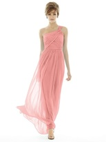 Alfred Sung D691 Bridesmaid Dress in APRICOT