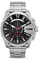 Diesel Stainless Steel Mega Chief Luminescent Chronograph Watch