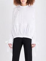 Antonio Berardi Embroidered cotton shirt