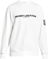 Alexander Wang Mixtape-print cotton sweatshirt