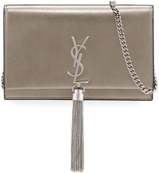 Saint Laurent Kate Monogram Small Calf/Lamb Tassel Wallet on Chain