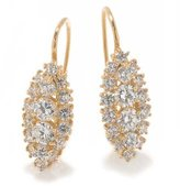 Tatitoto Gioie Women's Earrings in 18k Gold with White Cubic Zirconia, 8.1 Grams
