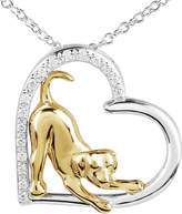 JCPenney FINE JEWELRY ASPCA Tender Voices 1/10 CT. T.W. Diamond Dog Pendant Necklace