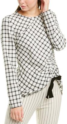Derek Lam 10 Crosby Cinched Wool-Blend Top