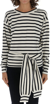 Sonia Rykiel Waist-Tied Striped Blouse