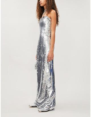 16Arlington Jorja strapless sequinned dress