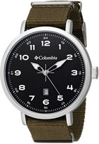 Columbia Men's CA023-301 Fieldmaster III Stainless Steel Watch with Green Nylon Band