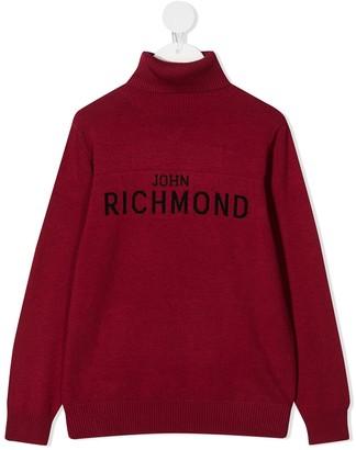 John Richmond Junior Logo Intarsia Knit Jumper