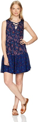 Jolt Women's Triple Tier Twin Print Dress NA