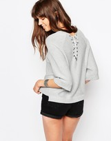 Only Bell Sleeve Sweater With Criss Cross Back