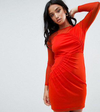 ASOS Mesh Mini Dress with Ruched Details
