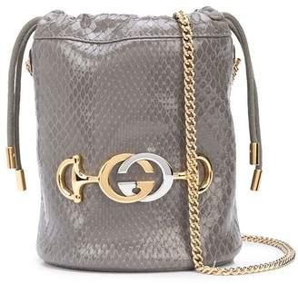 Gucci snakeskin effect bucket bag