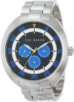 Ted Baker Men's TE3046 Sport Silver Case and Bracelet Blue Dial Watch