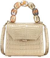 Nancy Gonzalez Beaded Crocodile Top-Handle Bag