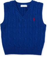 Ralph Lauren Cable-knit Cotton Sweater Vest