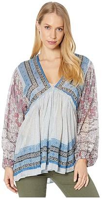 Free People Aliyah Printed Tunic (Blue) Women's Clothing