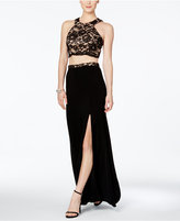 Xscape Evenings X by 2-Pc. Lace Gown