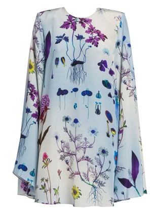 Stella McCartney Floral-Print Silk Babydoll Dress