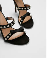 Express beaded strappy heeled sandals