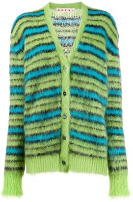 Marni Striped Knit Cardigan