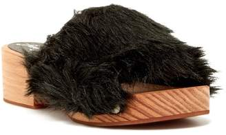 Free People Faux Fur Sonnet Clog Sandal