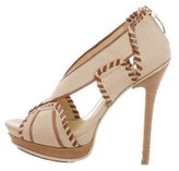 Alexandre Birman Canvas Cage Sandals
