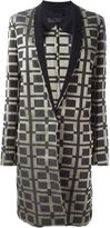 Haider Ackermann grosgrain collar printed coat