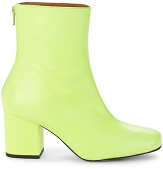 Free People Cecile Leather Heeled Booties