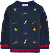 Gucci Embroidered neoprene sweatshirt