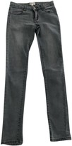 Bel Air Grey Cotton Trousers for Women