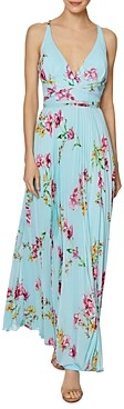 Laundry by Shelli Segal Floral Print Chiffon Gown