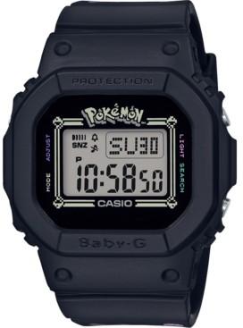 G-Shock Baby-g Women's Digital Pokemon Black Resin Strap Watch 40mm