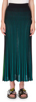 Kenzo Two-Tone Jersey Maxi Skirt, Midnight Blue
