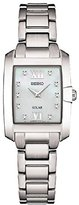 Seiko Women's 'DIAMOND SOLAR' Quartz Stainless Steel Casual Watch, Color:Silver-Toned (Model: SUP377)